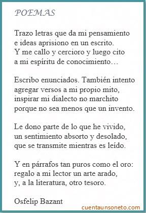 Sonetos de Osfelip. Sonetos ejemplos. Definición y ejemplos de sonetos.