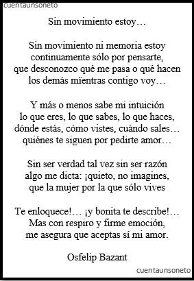 Poemas en cartas de amor y desamor. Un soneto en una carta amorosa de cuentaunsoneto.