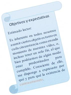 Objetivos Y Expectativas Cuentaunsoneto