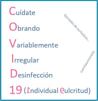 Acrósticos con covid-19.
