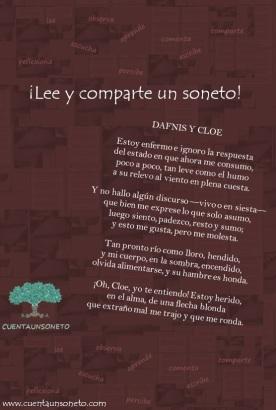 Soneto. Poemas.Poema Dafnis y cloe. Soneto clásico. Dafnis y Cloe de Longo. Mitología clásica.