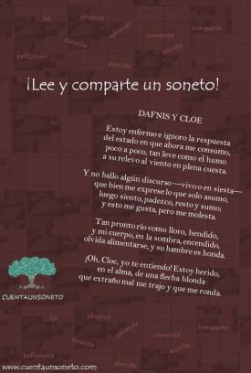 Dafnis y cloe soneto. Poemas de amor.