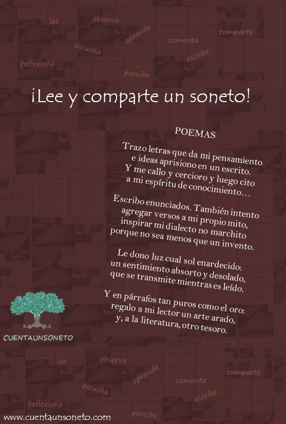 Poema sobre el soneto. Poema metapoema. Cuentaunsoneto.