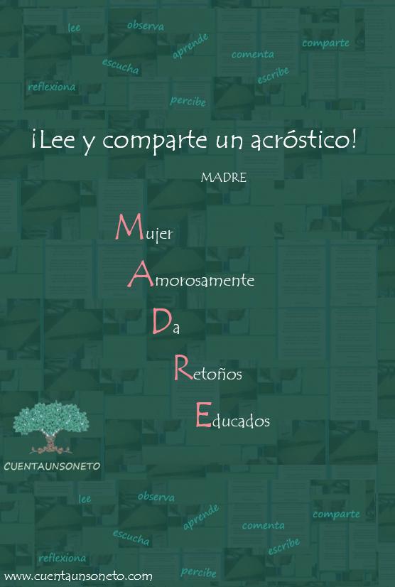 Ejemplos de acrósticos.